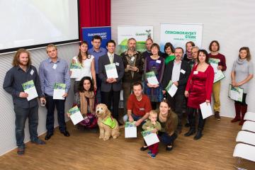 Čeští vítězové 2. ročníku soutěže Quarry Life Award na vyhlášení