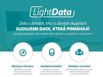 LightData poskytují uživateli ucelené a přehledné informace o trhu, firmách a hlavně cílových skupinách