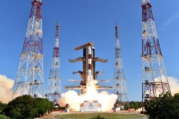 Start indické rakety PSLV (Foto: S laskavým svolením ISRO HQ pro nekomerční použití)