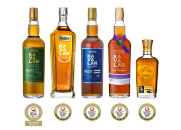 Kavalan Solist Ex-Bourbon Single Cask Strength collects 2017 IWSC 'Trophy' (PRNewsfoto/Kavalan)