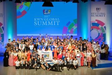Vyhlášení cen KWN Global Contest 2017 se účastnili mladí lidé z 18 zemí a regionů celého světa