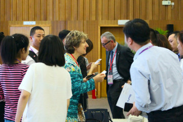 Marie Otaegui, ředitelka pro sourcing ICRC v Asii, představila postup ICRC při výběru partnerů na 122. kantonském veletrhu (PRNewsfoto/Canton Fair)