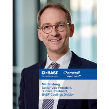 Martin Jung, viceprezident pro povrchovou úpravu divize lakování povrchů společnosti BASF