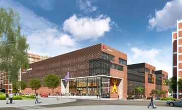 Plánované multifunkční centrum 24-25-26 FABRIKA, které promění východní část baťovského areálu