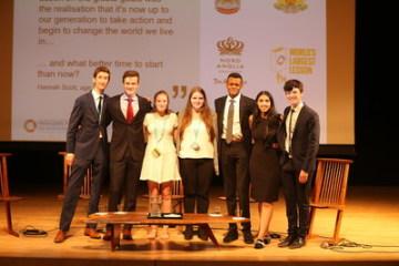 Studenti Nord Anglia sdílí své nápady pro realizaci cílů udržitelného rozvoje na Politickém fóru nejvyšší úrovně OSN (PRNewsfoto/Nord Anglia Education)