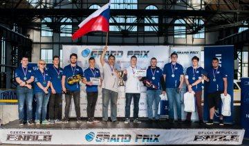 Vítězné týmy Motol Speeders a Werk team