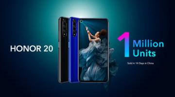 Prodej smartphonu HONOR 20 v Číně převýšil jeden milion kusů za pouhých 14 dní