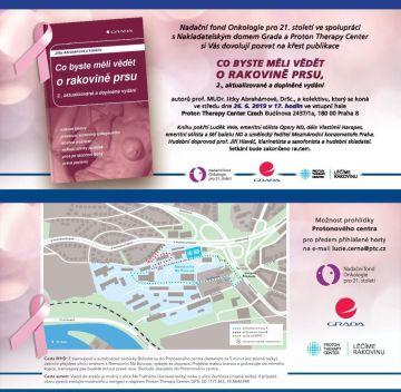 Pozvánka na křest publikace Co byste měli vědět o rakovině prsu