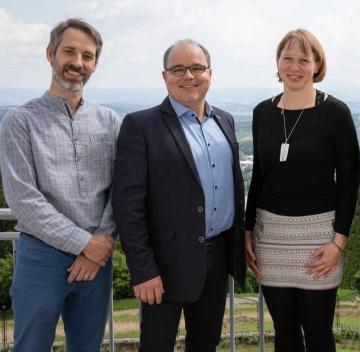 DELTA BIM-tým v projektu BMW (zleva doprava: Architekt a prokurista Adam Cifra, jednatel Erik Štefanovič, architekt Sabrina Schubert)
