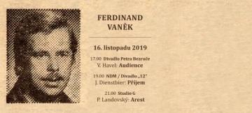 Blahopřání k narozeninám Ferdinanda Vaňka s fotem Václava Havla (Rudé právo v říjnu 1989)