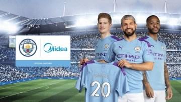 Fotbalový klub Manchester City oznámil nové globální partnerství se světovým výrobcem domácích spotřebičů, společností Midea.