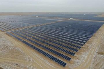 Solární elektrárna o výkonu 50 MW v Kazachstánu (PRNewsfoto/Risen Energy Co., Ltd)