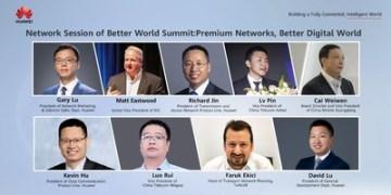 Hlavní řečníci z IDC, China Telecom Anhui, China Mobile Guangdong, China Telecom Ningxia, Turkcell a Huawei (PRNewsfoto/Huawei)