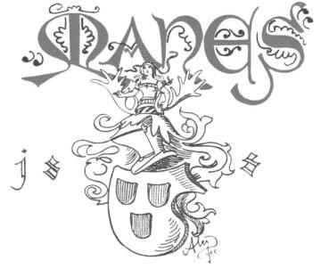 Mikoláš Aleš, Erb Mánesa, kresba