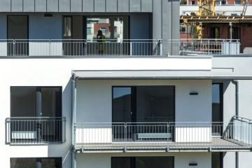 Bytový dům, výstavba - ilustrační foto.