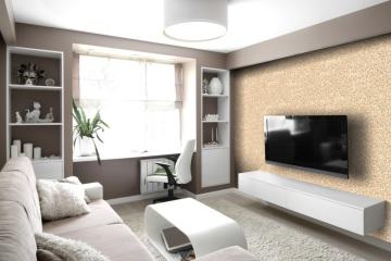 Díky speciálním technologiím lze na vertikální plochy využít kamenný koberec