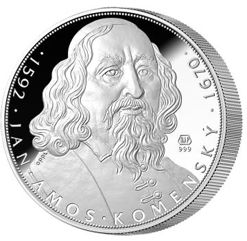 5uncová stříbrná medaile, vyražená při příležitosti 425. výročí Učitele národů