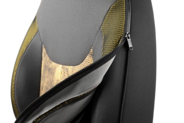 With an integrated zipper, Adient\\'s seat covers are easy to remove and clean and maintain comfort and individualization for drivers and passengers especially in the car-sharing market. Foto: obs / Adient Ltd. & Co. KG