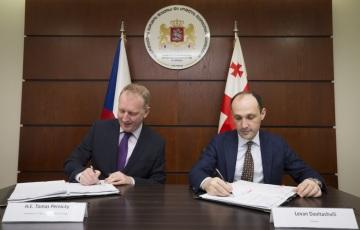 Podpis Memoranda o porozumění proběhl v Tbilisi dne 2.3.2018