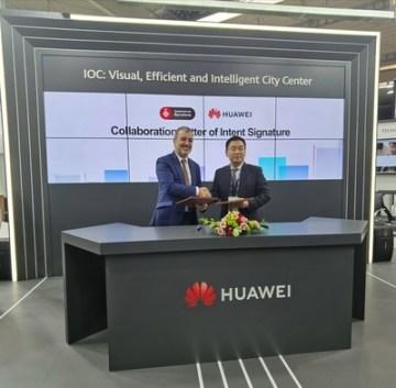 Dopis o záměru podepsali pan Jaume Collboni, primátor (primer Tinent d\\'Alcalde) Rady města Barcelona a pan Sun Fuyou, viceprezident společnosti Huawei Enterprise Business Group.