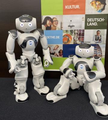 Roboti v pražském Goethe-Institutu