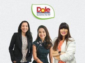 Zleva: Kimberly Galante, Peewee Dizon a Dr Lara Ramdin (PRNewsfoto/Dole Packaged Foods, LLC)