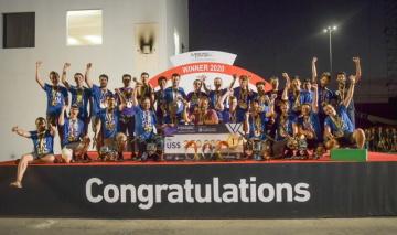 Studenti ČVUT po vítězství v letošní soutěži Mohamed Bin Zayed International Robotics Challenge.